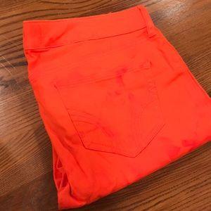 Hollister skinny jean pants orange tie dye size 5